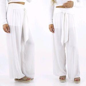 White Linen-ish Pants